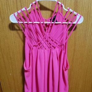 Torrid Intricate Neckline Camisole Hot Pink